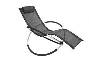 Leco Alu Schaukelstuhl aus Aluminium und Kunststoff in schwarz