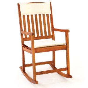 schaukelstuhl aus hartholz f r drau en mit r cken und sitzkissen. Black Bedroom Furniture Sets. Home Design Ideas